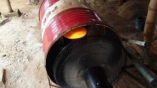 Kompor oli bekas untuk broding doc ayam broiler, irit dan murah meriah