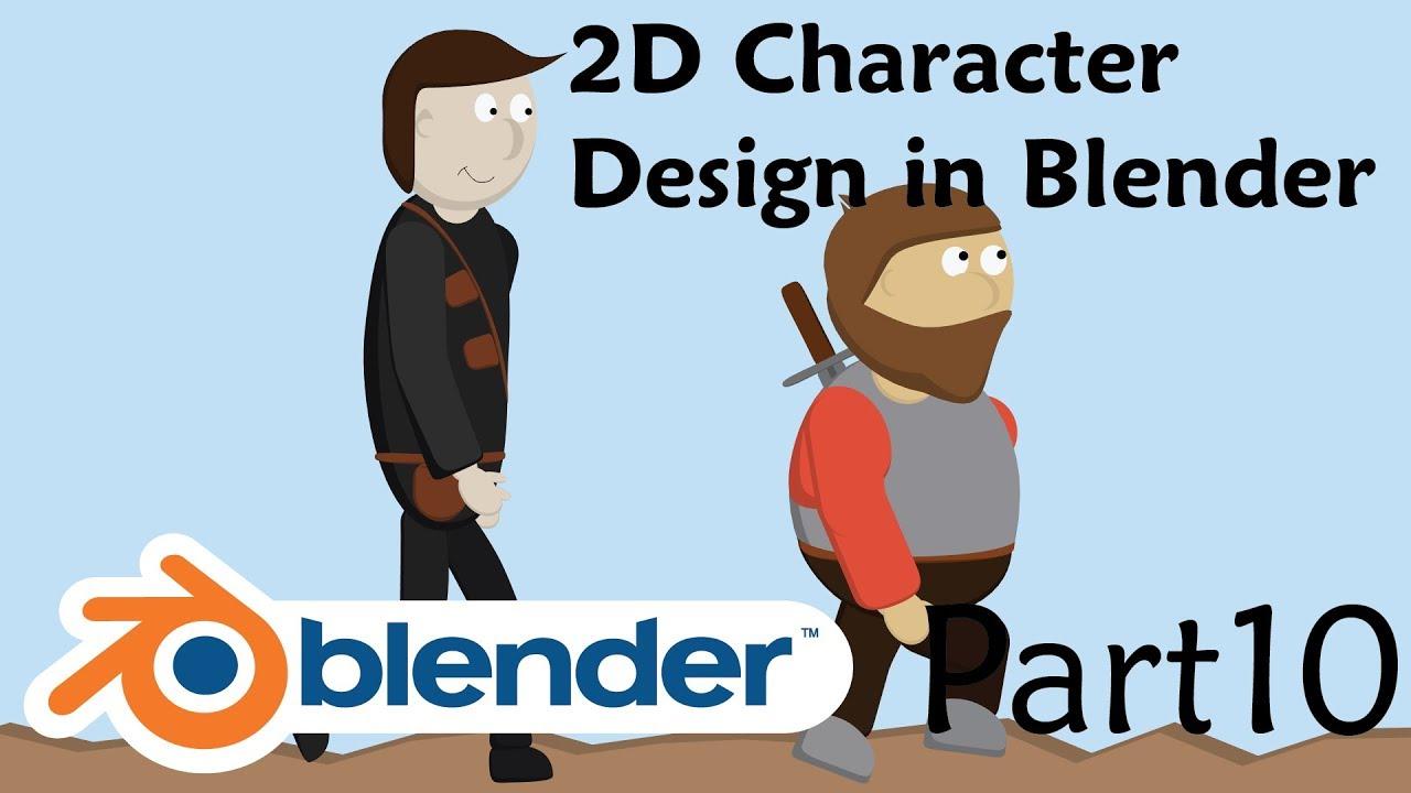 2D Character Design in Blender – Part 10