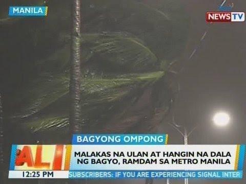 BT: Malakas na ulan at hangin na dala ng bagyo, ramdam sa Metro Manila