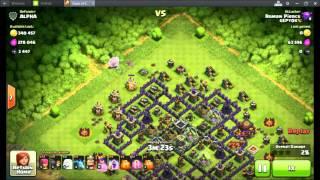 Clash Of Clans-Best Tricks loot 300.000gold, 300.000elixire, 2500dark elixire with QA & 8Healer