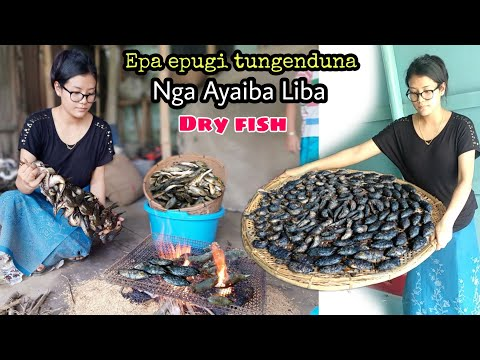 Dried Fish Preservation Technique In Ancient Manipur || Nga Ayaiba Liba || Eat with sisters Mukbang