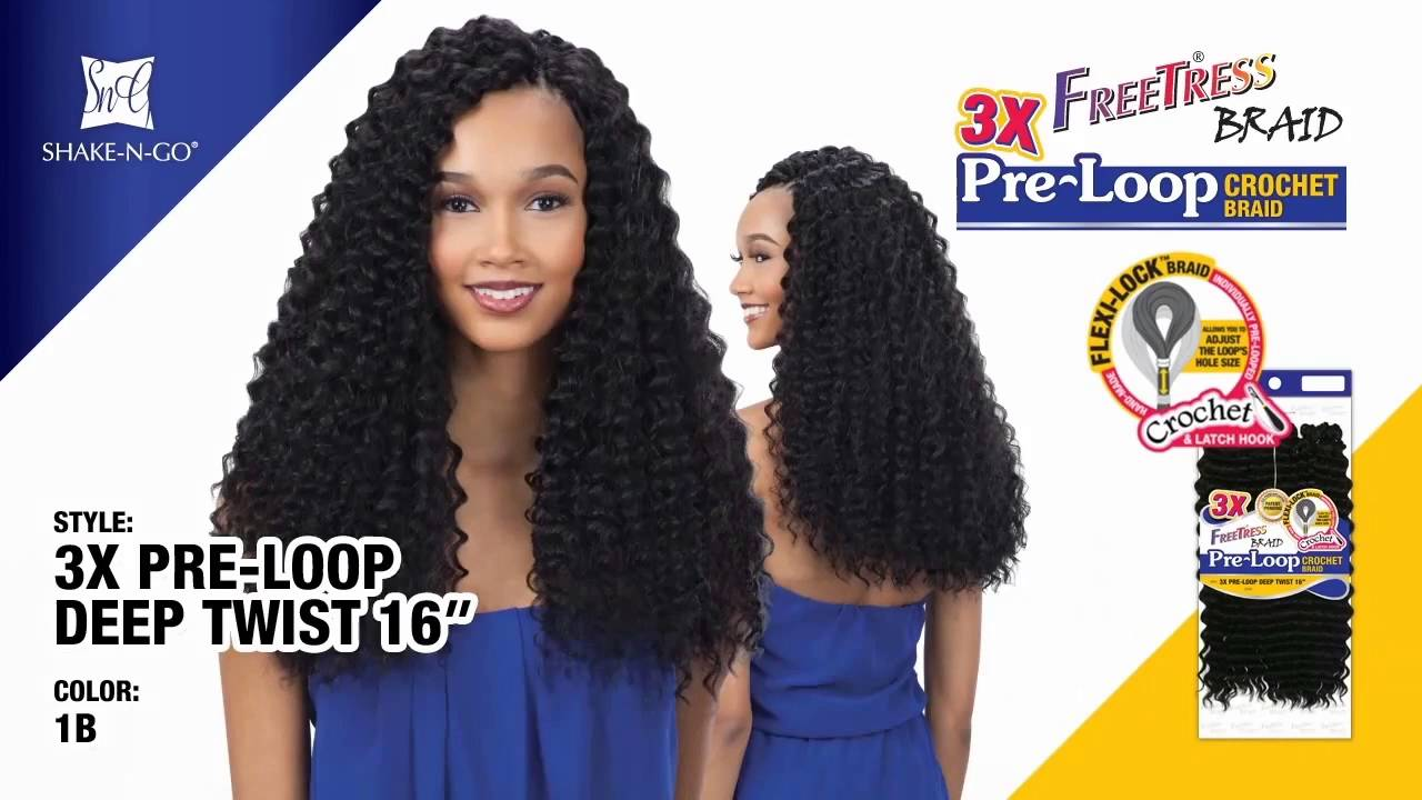 Freetress Synthetic Braid 3x Pre Loop Crochet Deep Twist 16