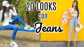 20 Outfits con JEANS! 👖