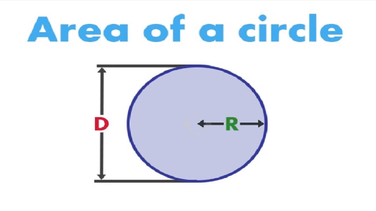 worksheet Area Of A Circle Diameter calculate the area of a circle from radius or diameter youtube diameter