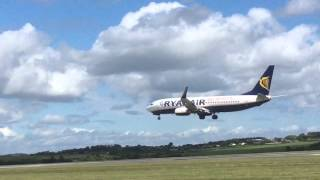 Ryanair 737-800 (yes to Europe liverly) landing in cork airport