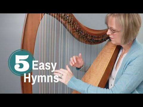 Easy Hymns HARP SHEET MUSIC Anne Crosby Gaudet