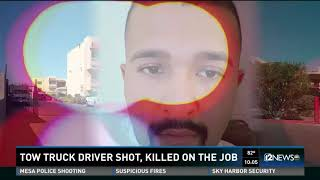 Tow truck driver shot, killed on the job