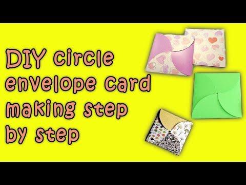 DIY circle envelope card making at home