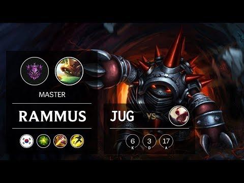Rammus Jungle Vs Lee Sin - KR Master Patch 9.24
