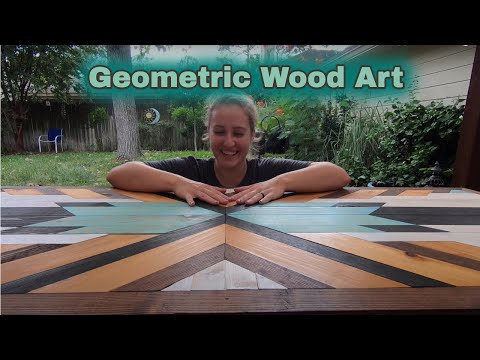 How to Make Geometric Wood Art Storage Box Doors (DIY) * Skoolie Conversion * Gus The Struggle Bus