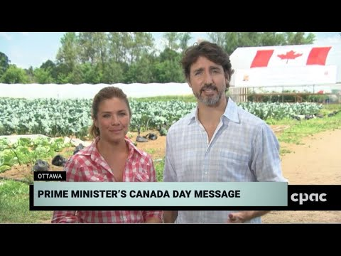 PM Justin Trudeau Delivers Canada Day Address In Ottawa – July 1, 2020