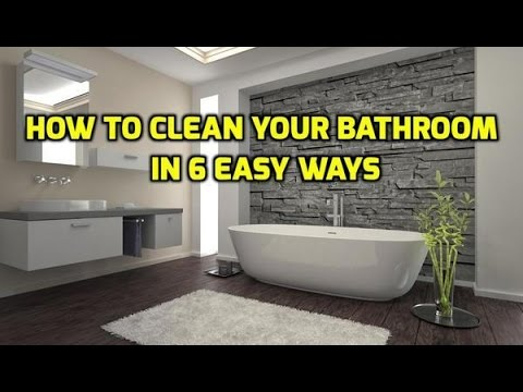 How To Clean Your Bathroom In Easy Ways YouTube - How to clean your bathroom