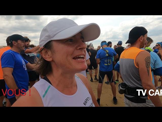 Foulée des Baïnes #1 - vlog - Les Interviews Avant Course -Plage Grand Crohot Lège-Cap Ferret