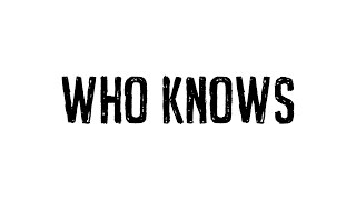 Netsky - Who Knows feat. Paije (Cover Art)