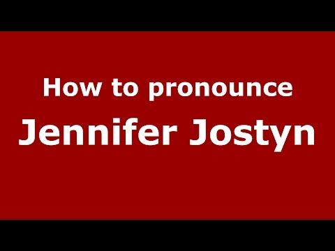 How to pronounce Jennifer Jostyn American EnglishUS   PronounceNames.com