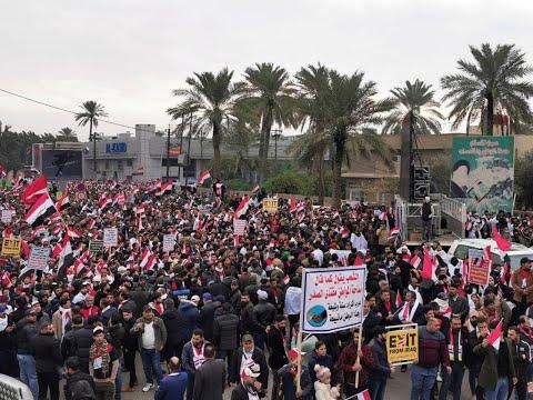 """""""Dehors les Américains !"""" : les partisans de Moqtada al-Sadr se mobilisent vendredi à Bagdad"""