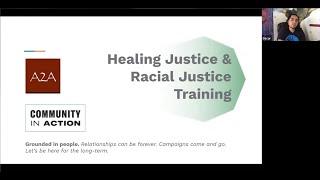 Healing Justice & Racial Justice Training