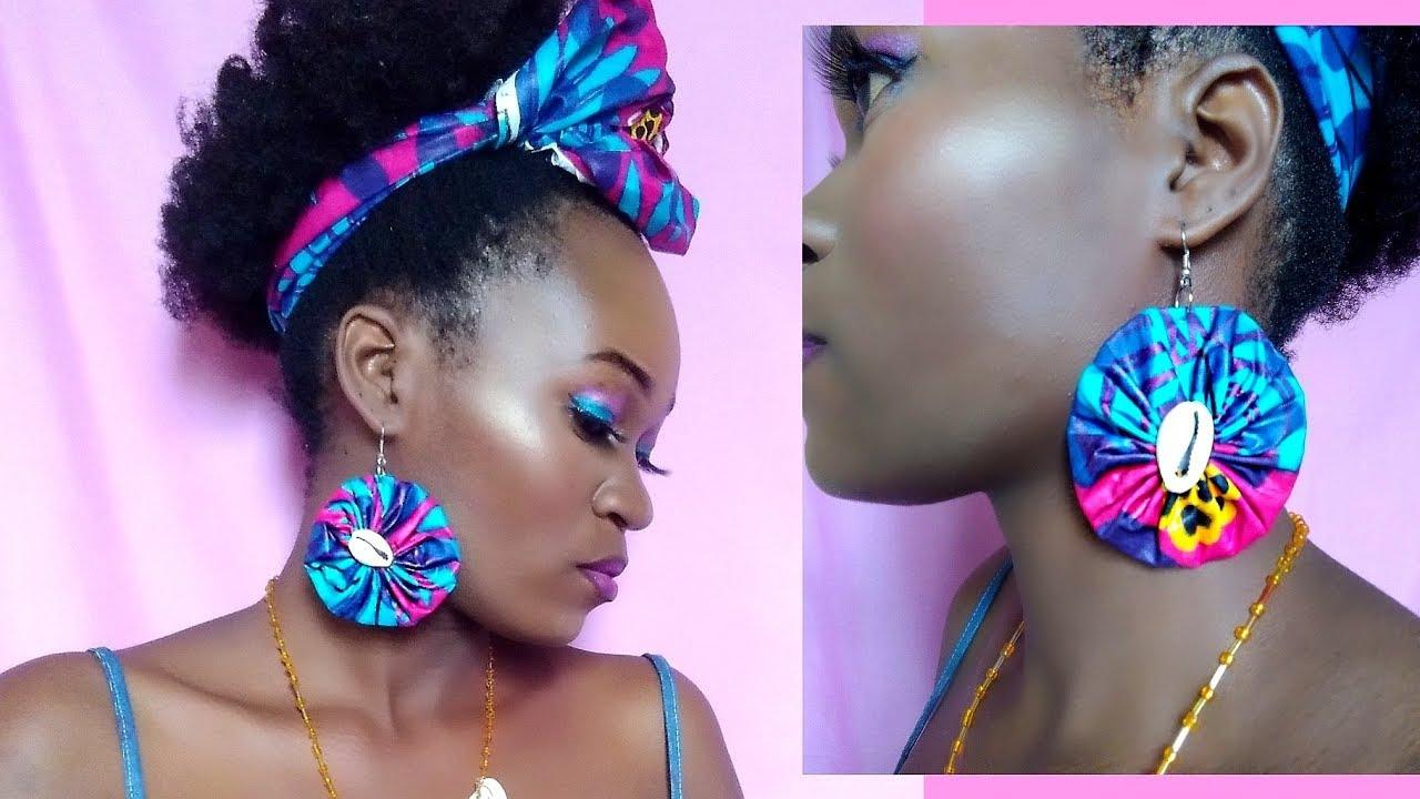 Earrings fabric earrings African fabric earrings afrocentric ankara earrings