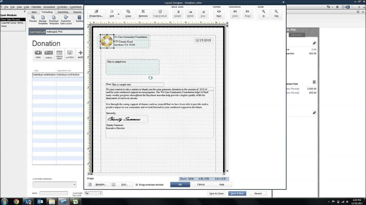 Thank you letter templates in quickbooks youtube aljukfo Images