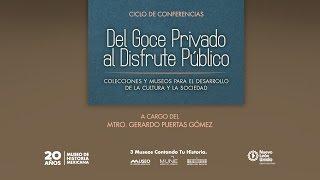 Rueda de Prensa: Ciclo de Conferencias. Del Goce Privado al Disfrute Público.