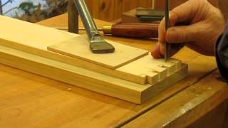 Curved Blockfront Dressing Table   Making Hand Cut Dovetail Drawer Step 19