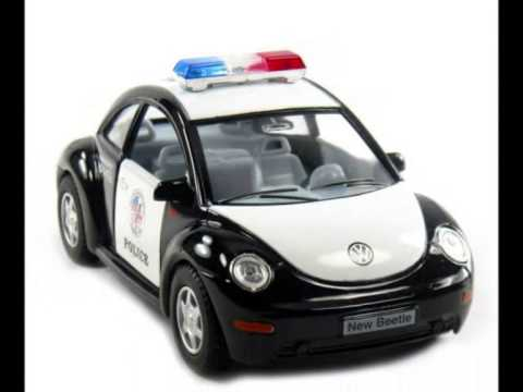Volkswagen Beetle Police Car Toy For Kids