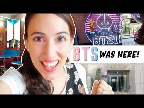BTS TOUR EN COREA 🇰🇷 VISITANDO BIG HIT, BT21 CAFÉ Y MÁS | HelloTaniaChan