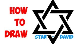 Drawing: How to Draw the Star Of David or Jewish Star