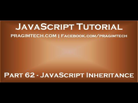 Inheritance In Javascript Youtube