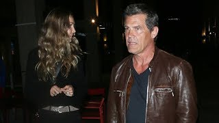 Josh Brolin Spends The Evening At The Theater With His Wife