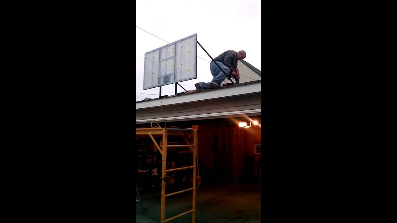 Installing The Lag Bolts For A Basketball Hoop