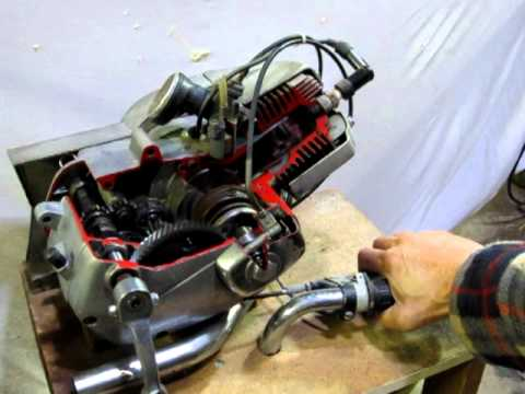 Tomos APN a 50cc moped engine working model