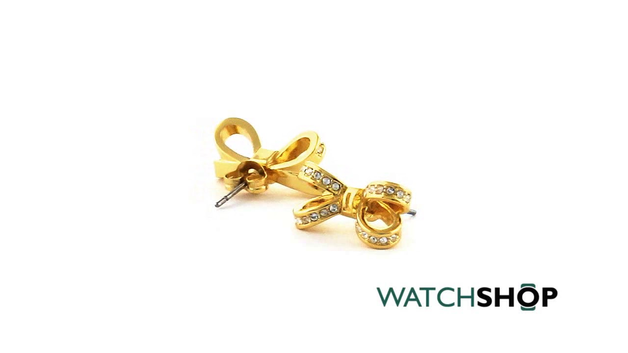 1e7db8388 Ladies Ted Baker Jewellery Gold Plated Olitta Mini Opulent Pave Bow Earring  (TBJ1563-02-02) | WatchShop.com™
