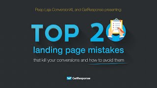 Top 20 Landing Page Mistakes [Webinar] | Peep Laja