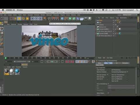 Cinema 4D Tutorial - Part 1 How to Make An Animated Title Sequence