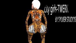 Chicas de la ciudad-Twerk video animado ft Cardi B (dibujos Animados)