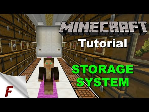 Minecraft Tutorial Sorting and Storage Module for the One Chunk Fully Automatic Farm Complex