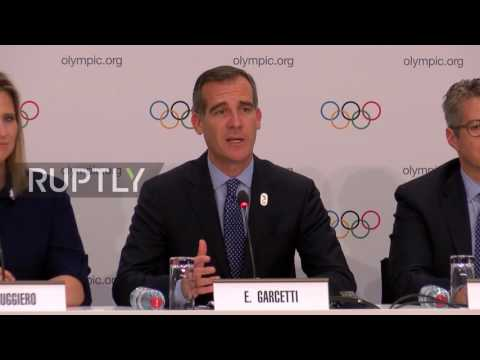 Switzerland: Los Angeles has 'infrastructure, love and vision' to host 2024 Olympics – LA mayor