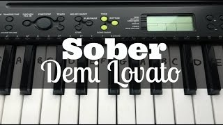 Sober - Demi Lovato | Easy Keyboard Tutorial With Notes