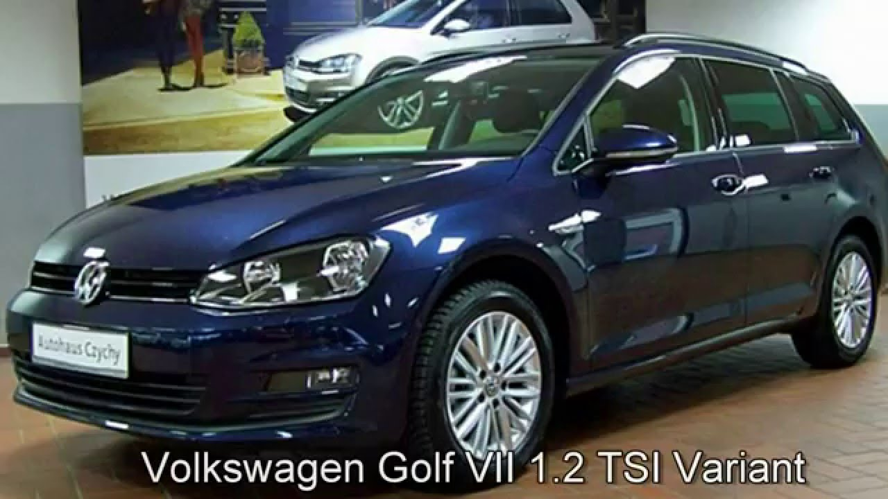 volkswagen golf vii variant  tsicup fp night blue autohaus czychy youtube