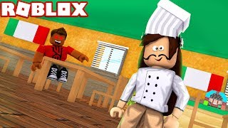 A STRANGER LOVES ME IN MY ITALIAN RESTAURANT in ROBLOX🍕🍝