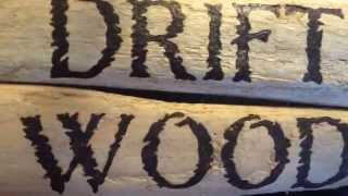Driftwood Pyrography Sign