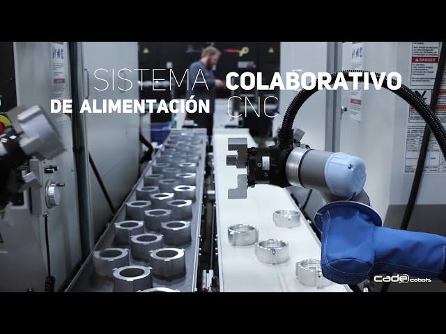 Sistema colaborativo de alimentación CNC  - CADE Cobots