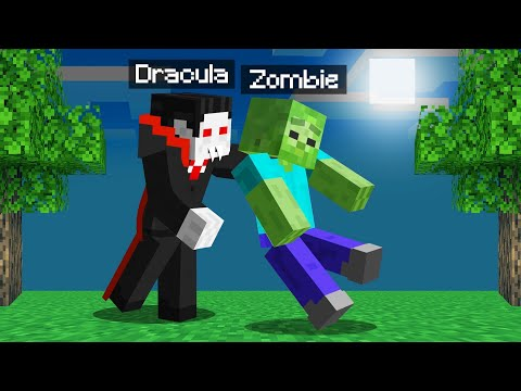 Playing MINECRAFT As DRACULA! (Scary)