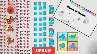 Diep.io On Mobile First Look + NEW UPDATE Tri-Trapper | Mega Trapper | Unnamed Best Tanks!