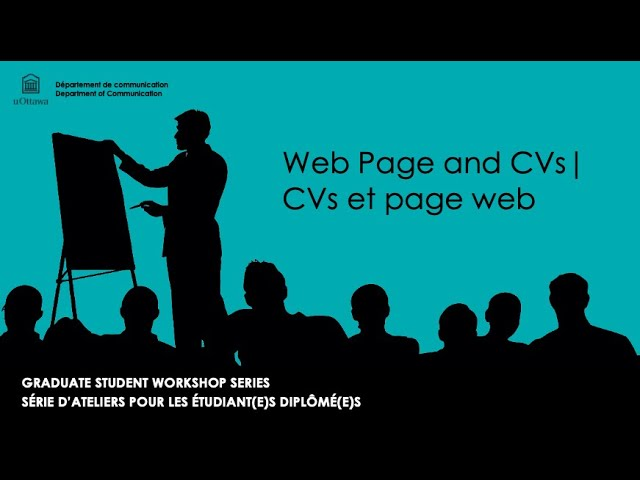 Resumes, CVs, and Websites / Les CVs and les sites web