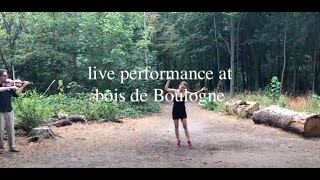 danse performance au bois de Boulogne / dance performance / bois de Boulogne / live performance
