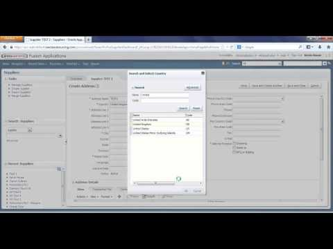 How To Create A Supplier in Oracle ERP Cloud Accounts Payable