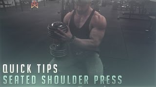 Bradley Martyn - Quick Tips Seated Shoulder press
