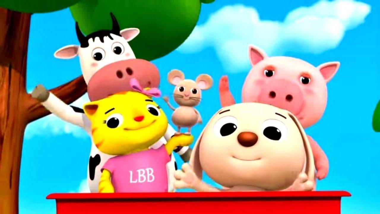 Развивающие мультфильмы - Учим животных - Литл Бэйби Бам. Сборник песен детям